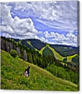 Children On Vail Mountain Canvas Print
