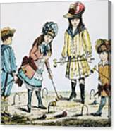 Children Playing Croquet Canvas Print