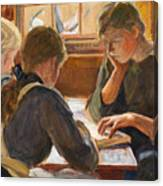 Children Reading Canvas Print