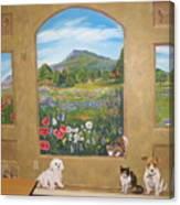 Childrens Church Mural Canvas Print