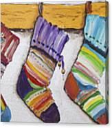 Children's  Socks For Christmas Gifts Canvas Print