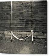 Child's Swing On An Old Farm Canvas Print