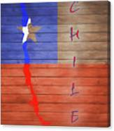 Chile Rustic Map On Wood Canvas Print