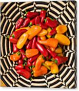 Chili Peppers In Basket  Canvas Print