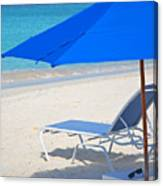 Chilling On The Beach Anguilla Caribbean Canvas Print