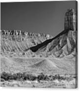 Chimney Rock In Black And White - Towaoc Colorado Canvas Print