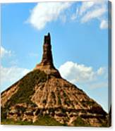 Chimney Rock Panorama Canvas Print