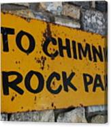 Chimney Rock Sign Canvas Print