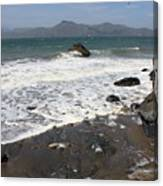 China Beach With Outgoing Wave Canvas Print