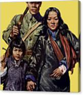 China - First To Fight - Ww2 Canvas Print