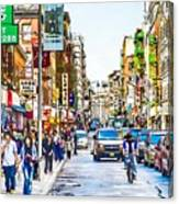 Chinatown In New York City 2 Canvas Print