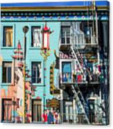 Chinatown Mural On Broadway Canvas Print