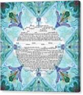 Chinease Ketubah- Reformed And Interfaithversion Canvas Print