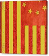 Chinese American Flag Vertical Canvas Print