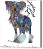Chinese Crested Dog Pop Art Canvas Print