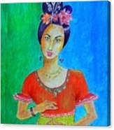 Chinese Dancer -- The Original -- Portrait Of Asian Woman Canvas Print