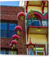 Chinese Lanterns Over Grant Street Canvas Print