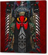 Chinese Masks - Large Masks Series - The Red Face Canvas Print