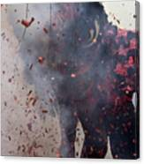 Chinese New Year Action Canvas Print