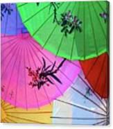 Chinese Parasols Canvas Print