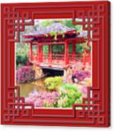 Chinese Pavilion Rhododendron Gardens Burnie Tasmania Canvas Print