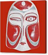 Chinese Porcelain Mask Red Canvas Print