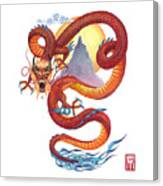 Chinese Red Dragon Canvas Print