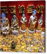 Chinese Religious Trinkets And Statues On Display In Xiamen Chin Canvas Print