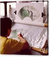 Chinese Silk Canvas Print