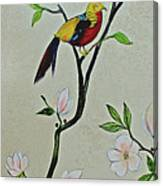 Chinoiserie - Magnolias And Birds #1 Canvas Print