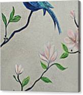 Chinoiserie - Magnolias And Birds #4 Canvas Print