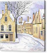 Chipping Campden In Snow Canvas Print