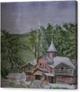 Chirch Near Gorno-altaisk  Canvas Print