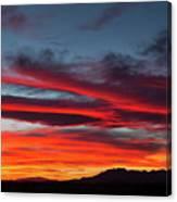 Chiricahua Mountain Sunset Canvas Print