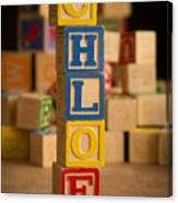 Chloe - Alphabet Blocks Canvas Print