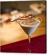Chocolate And Cream Martini Cocktail Canvas Print