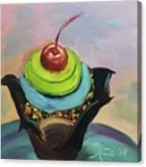 Chocolate Cupcake With Cherry Canvas Print