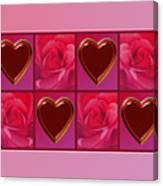 Chocolate Hearts And Roses Canvas Print