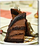 Chocolate Mousse Cake Canvas Print
