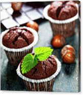 Chocolate Muffins Canvas Print