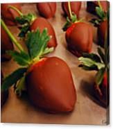 Chocolate Strawberries Canvas Print