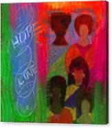 Choir Girls Canvas Print