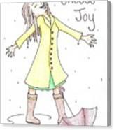 Choose Joy Woman Canvas Print