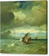 Choppy Sea 1870 Canvas Print