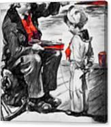 Chris-craft Sailor And Sailor Vintage Ad Canvas Print