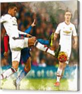 Chris Smalling  In Action  Canvas Print