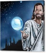 Christ At Night Canvas Print