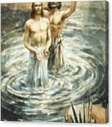 Christ Being Baptised Canvas Print