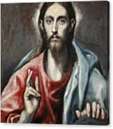 Christ Blessing, The Saviour Of The World Canvas Print
