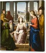 Christ Disputing With The Doctors In The Temple Canvas Print
